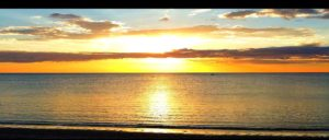 Beautiful sunset at Moonta Bay beach